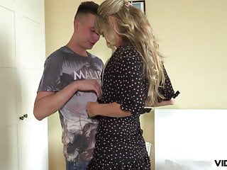 Hot MILF can't resist seducing the young stud video