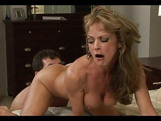 Mature Hot Mom With Young Man in Bedroom