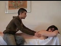 Mature chubby latina wife blows  her young lover